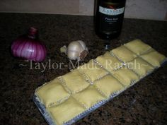 A nice meat-stuffed ravioli recipe can be made with homemade pasta - delicious! #TaylorMadeHomestead