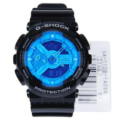 Casio G-Shock World Time Blue Dial Watch GA-110B-1A2  Free Shipping to USA, UK, Australia, New Zealand, Hong Kong, Japan, Korea, Singapore Designer watch, bargain price, Lowest price, authentic watch, 100% Authentic genuine, brand new.