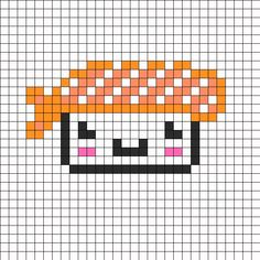 Cute Sushi perler bead pattern