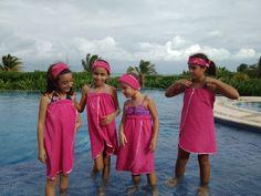 divertida fiesta spa de niñas en el caribe mexicano
