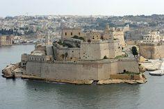 Malta -  Fort St Angelo from Valletta, by Tom.Blackie, via Flickr (Dorothy Dunnett, Lymond Chronicles)