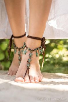 Brown barefoot sandals Beach wedding Mermaid jewelry Bottomless sandals Foot jewelry Barefoot sandal Cool barefoot sandals with bronze-green colored turtles, Estilo Hippie, Mermaid Jewelry, Body Jewelry, Jewelry Sets, Ankle Jewelry, Women's Jewelry, Gold Jewellery, Bridal Jewelry, Jewelry Watches