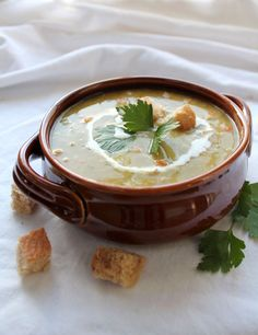 A Classic Split Pea Soup with hearty flavors. This recipe is delicious and filled with Split Peas, Carrots, Celery, Ham, Onion, Garlic and Broth.