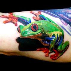 Colorful Tree Frog Tattoo Idea