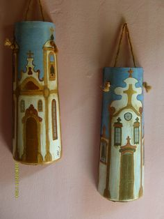 Hand Painted Decorative Roof Tiles | DELGADO'S ART Decoupage, Roof Tiles, Mason Jar Lamp, Hand Painted, Crafts, Painting, Home Decor, Art, Homemade Home Decor