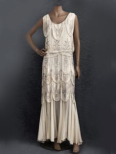~Hollywood style beaded evening dress, 1930s~