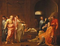 Death of Socrates by Charles-Alphonse Dufresnoy Galerie Des Offices, Socrates, 17th Century, Art History, Images, Death, Movie Posters, Painting, Florence