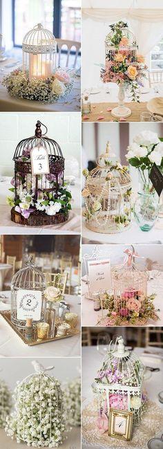 birdcage inspired vintage wedding centerpiece ideas
