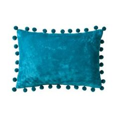 room essentials pom pom decorative pillow turquoise  Target