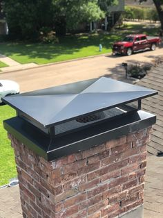 Master Services uses the cross break design method to ensure water sheds off the chimney cap and doesn't allow water to fall through your chimney. Call or email us today to get a FREE estimate on a chimney cap that's perfect for your chimney! Gutter Colors, Roof Cap, Chimney Cap, Austin Homes, Mechanical Design, Ceiling Design, Architecture Details, Curb Appeal, Home Interior Design