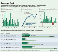 Emerging market companies and govts are issuing debt at a record pace again.