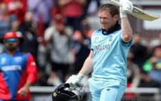Morgan blasted 17 sixes en route to his magnificent 148 off just 71 balls against Afghanistan in their World Cup game against Afghanistan at Old Trafford. Cricket Score, Live Cricket, Cricket News, Eoin Morgan, Glenn Maxwell, Tv Live Online, World Cup Games, Ab De Villiers, World Cup Match