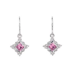 Simple Splendor (4253)  earrings made of Rhodium with rose and clear SWAROVSKI ELEMENTS.