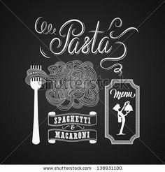 Illustration of a vintage graphic element for menu on blackboard by BSSR, via ShutterStock