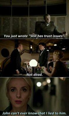 Dr Watson ~ Still has trust issues.