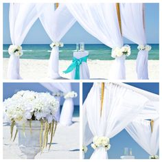 ARCH - the white and aqua blue combination is so clean and elegant! May want to add fake starfishes as decor!