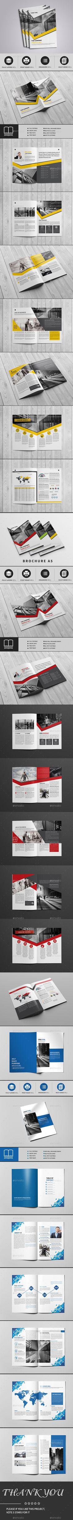 Brochure Bundle 3x1 — InDesign INDD #advertise #psd brochure • Download ➝ https://graphicriver.net/item/brochure-bundle-3x1/19130903?ref=pxcr