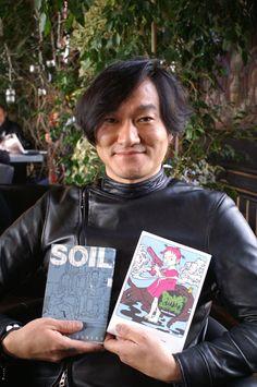 "Kaneko Atsushi with his manga ""Soil"" and ""Bambi"" by Thomas Berthelon"