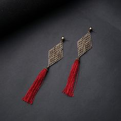 #earrings #tasselearrings #redearrings #redtassels