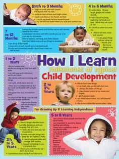 Developmental stages for children Poster Buy the Poster Child Development Stages, at Child Development Stages, Child Development Activities, Development Milestones, Toddler Development, Baby Milestones, Language Development, Baby Development Chart, Communication Development, Childcare Activities