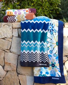 Rita & Rufus Beach Towels by Missoni Home at Horchow.