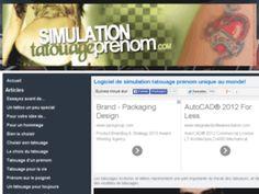 Simulation de tatouage de prénom écossais
