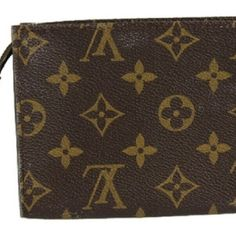 Cosmetic Pouch Clutch Pochette BG-#2946643 The front, the bottom, and the back of this has stains. In the inside the stitching has scratches. In the inside the material is peeling off and it is sticky. The stitching on the side has scratches. See Photos Louis Vuitton Bags Cosmetic Bags & Cases