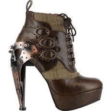 Oh Sexy Sexy Steampunks  Hades Oxford (Women's) - Brown (okay yeah i just thought these looked pretty cool.) old fashioned inventor shoes.