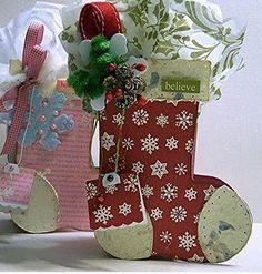scrapbook paper onto stocking?