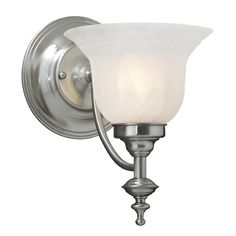 Sconce with Alabaster Glass | 667-09 | Destination Lighting