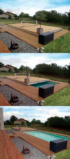 Terrasse mobile stilys abris de piscines piscines spas for Concept piscine design