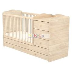 Timba NIKI 60x120 Kombinált 3 fiókos kiságy Cribs, Toddler Bed, Nike, Furniture, Home Decor, Cots, Child Bed, Decoration Home, Bassinet