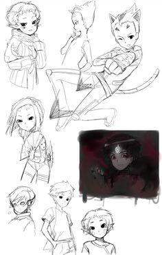 Code Lyoko Sketches by Edalie-chan