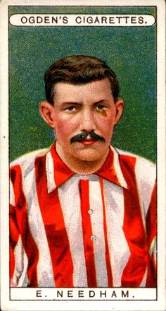 "Ogden's Cigarettes ""Famous Footballers"" (series of 50 issued in Ernest Needham ~ Sheffield United & England Football Cards, Football Players, Bristol Rovers, Sheffield United, Everton Fc, How To Memorize Things, The Unit, Memories, History"