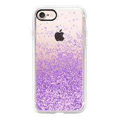 Lavander sparkles - iPhone 7 Case, iPhone 7 Plus Case, iPhone 7 Cover,... ($40) ❤ liked on Polyvore featuring accessories, tech accessories and android case