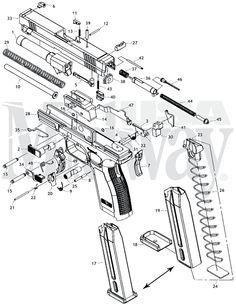 Beretta Usa 96 Stock Part Bushing Conical 1 6 Sight