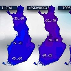 Just now the weather in Finland is so cold. The super cold air from Siberia has conquered the whole country. In Lapland the temperature can go as low as -40 degrees Celsius.  #winter #cold #lapland #weather #siberia #weatherforecast #winterwonderland #forecast #finland #blue #map #helsinkisecret #timokiviluoma #yle