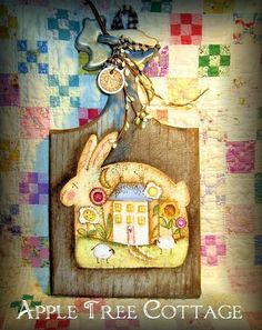 viNtAgE bReAdBoArD wiTh pRiM sPriNg BuNNy!! (one of Martha's paintings!)