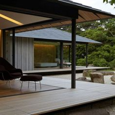 renowned japanese architect kengo kuma has crafted a private single-storey house in eastern japan entitled the 'PC garden'. Kengo Kuma, Residential Architecture, Interior Architecture, Garden Architecture, Sustainable Architecture, Modern Japanese Architecture, Architecture Portfolio, Gothic Architecture, Architecture Sketchbook