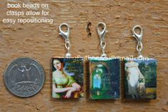 CUSTOM Mini Book Stitch Markers from Durable Clay