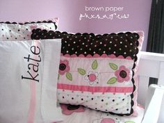 brown paper packages: {silhouette fabric interfacing - personalized pillowcases}