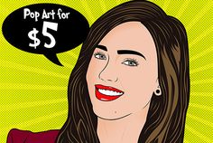 draw you into a PROFESSIONAL  pop art portrait by deesdesigns