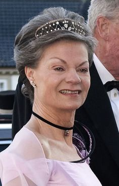 Countess Sussie of Rosenborg, wife of Count Ingolf of Rosenborg, wearing a Diamond Tiara