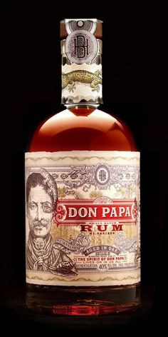 Stranger & Stranger' s Don Papa Rum featured on Graphic Exchange Packaging !