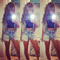 #cutoff #denim #jean #shorts #outfit #style #fashion