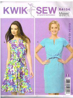 Kwik Sew, K4154, Misses' Dresses, Size XS, S,M, L, XL