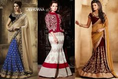 Mermaid Style Lehenga :) This is one of the most innovative designer #lehengacholis styles that accentuate the curves of women with an #hourglass figure.