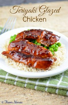 Teriyaki Glazed Chicken is an easy, delicious baked Asian chicken dish with a sauce that perfectly balances the sweet, spicy, and salty Asian flavors.