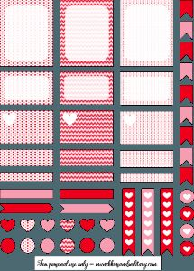 Valentines Erin Condren Life Planner Free Printable Stickers - Cricut & Silhouette