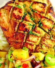 Swordfish a lo Macho (from Executive Chef Oscar del Rivero, Jaguar Ceviche Spoon Bar & Latam Grill) - http://restaurant-hospitality.com/chef-recipes/swordfish-lo-macho